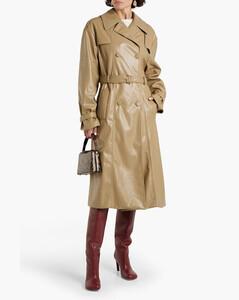 棉质混纺蕾丝中长连衣裙