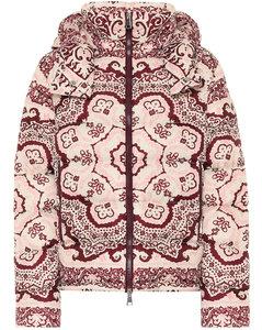 印花羽绒夹克