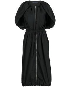 黑色垂感绉纱连衣裙