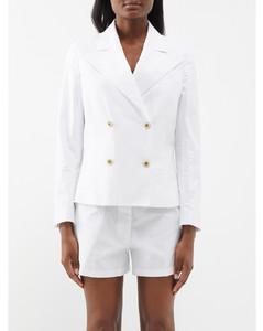 Logo Jacquard Silk Satin Shirt Dress