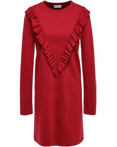 Ruffled stretch-jersey mini dress