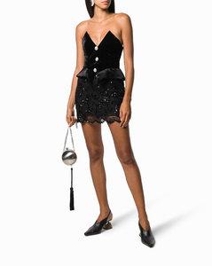 off-shoulder mini dress