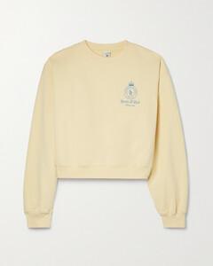 Blossom-print cotton poplin smock dress