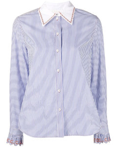 Barocco fitted shirt dress