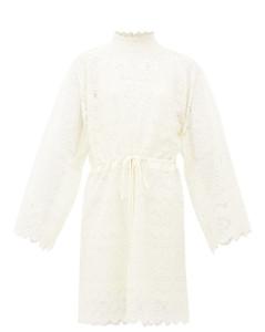 GG cotton-blend Chantilly-lace dress