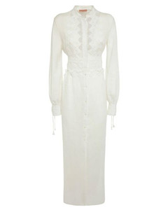 PlisséStriped Viscose Skirt