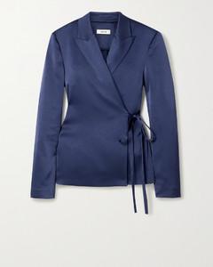 缎布围裹式西装外套