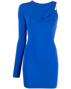 圆点织花绢网中长半身裙