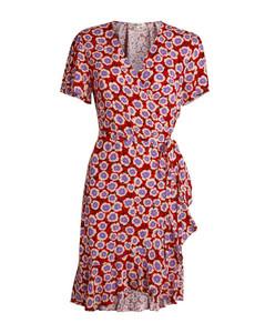 DVF Diane von Furstenberg Estrella Wrap Mini Dress