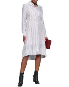 Striped woven shirt dress