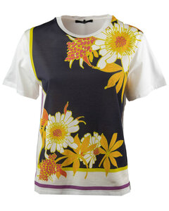 contrast panel T-shirt dress