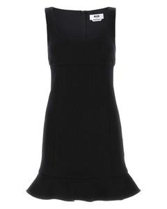 Ruffled shirred striped cotton-poplin midi dress