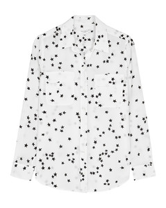 Slim Signature star-print silk shirt