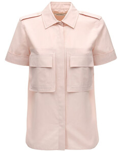 【万茜同款】Cotton Poplin Short Sleeve Shirt