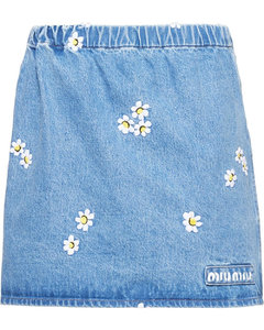daisy embroidered skirt