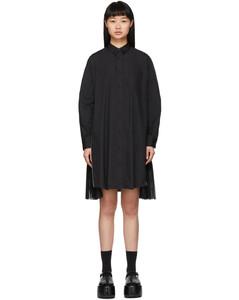 黑色府绸拉链连衣裙