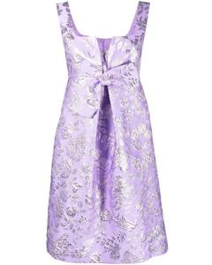 Margarita smocked linen midi dress