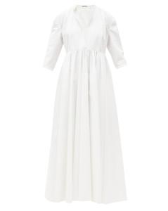 Niaz cotton-poplin maxi dress