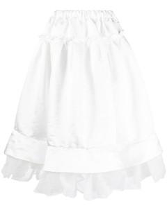 罂粟印花束腰连衣裙