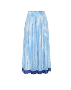 Mytheresa发售 — 印花真丝斜纹布中长半身裙