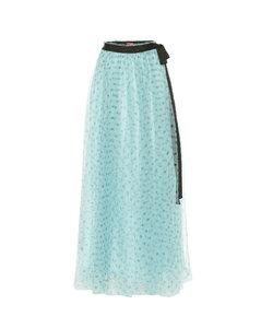 Poppy绢网加长半身裙