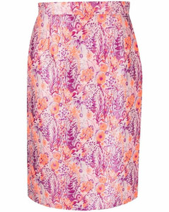 Ribbon-trimmed embroidered tweed dress