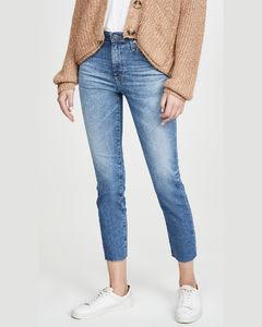 Isabelle高腰直脚九分牛仔裤