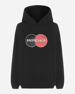 Uniform logo oversized cotton hoodie