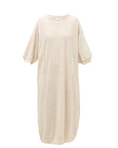 Merino-blend knit midi dress
