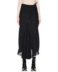 Black Asymmetric Wool Skirt