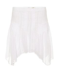 Akala刺绣纯棉半身裙