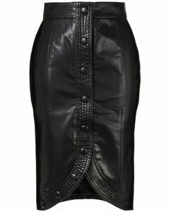 缝线H字形半身裙
