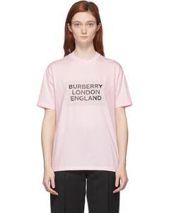 粉色徽标T恤