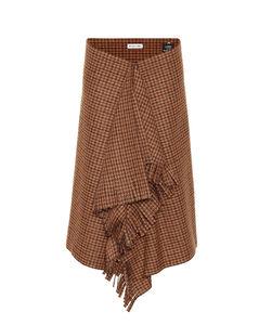 千鸟格羊毛混纺半身裙