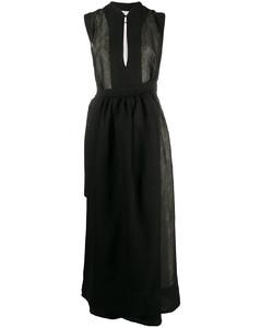 wrap style front midi dress