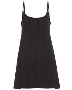 格纹针织连衣裙