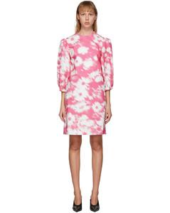粉色Flower Prin连衣裙