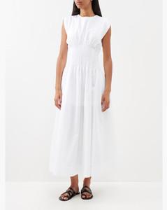 迷彩印花百褶半身裙