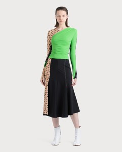 Contrast Side Skirt