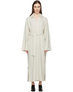 灰白色Polo连衣裙
