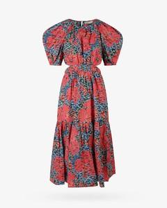 灰色双衣领府绸连衣裙