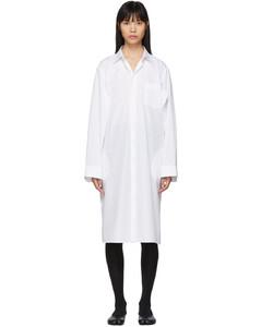 白色Double Arm连衣裙