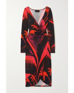 黑色垂坠长款衬衫连衣裙