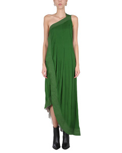 DRESS WITH CONTRASTING STITCHING