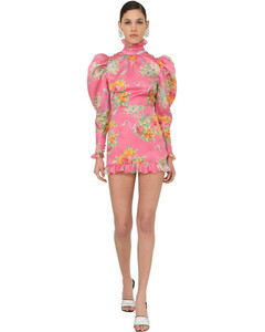 Printed Organza Mini Dress