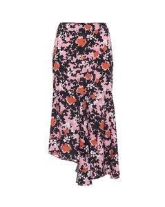 花卉中长半身裙