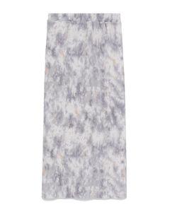 Blue lamésilk crepe long dress