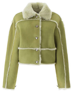 Leather Clothing Saks Potts for Women Lime Green