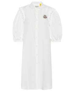 4 MONCLER SIMONE ROCHA embellished cotton dress