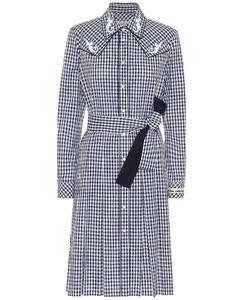 Olivia格纹棉质衬衫裙